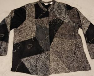 Vintage Laura Ashley Embroidered Patchwork Jacket